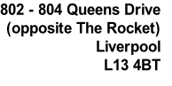 802 - 804 Queens Drive (opposite The Rocket) Liverpool L13 4BT